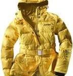 Żółta kurtka zimowa